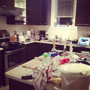The aftermath (not even my kitchen).