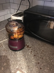 Frozen mango: 1, food processor: 0.